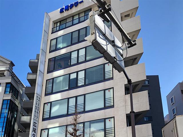 ⑨広尾タワー1階が当店です